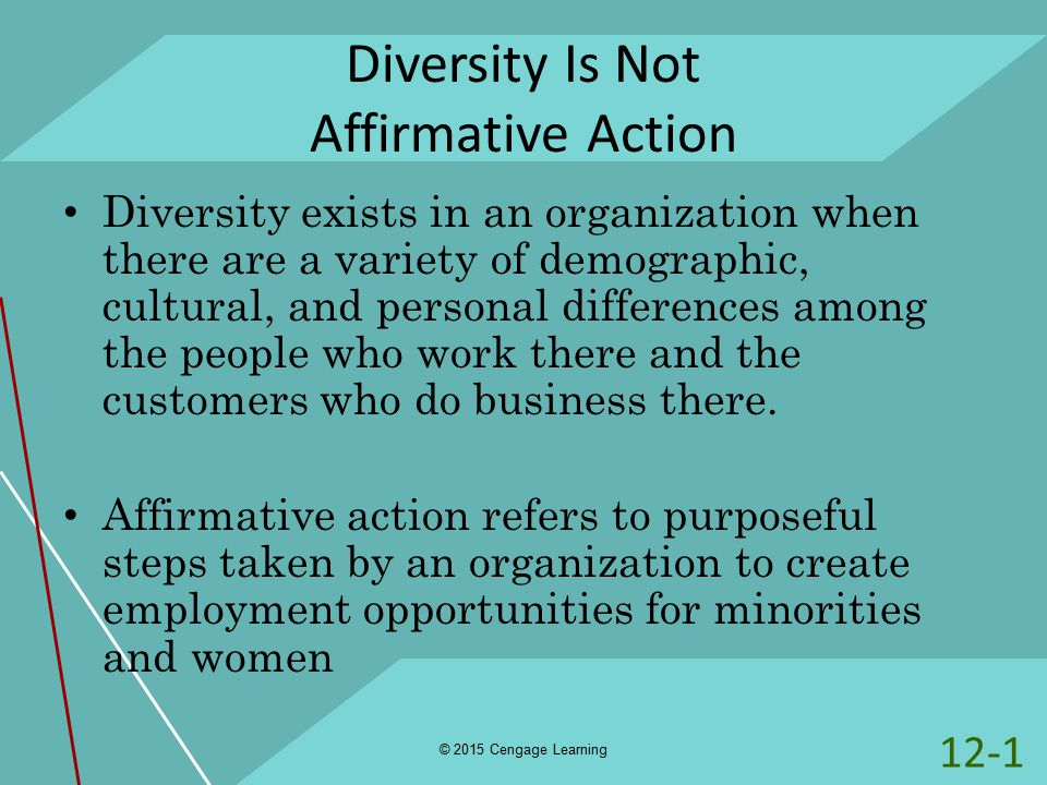 organizational diversity affirmative action and diversity Diversity made simple: understanding important terms related to diversity: affirmative action diversity within the workforce can be used by an organization.