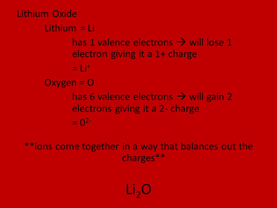 **ions come together in a way that balances out the charges**