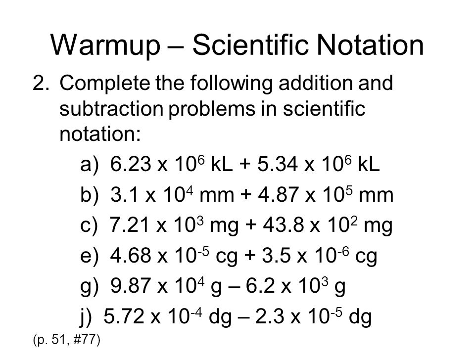 Warmup Scientific Notation ppt video online download – Math Worksheets Scientific Notation