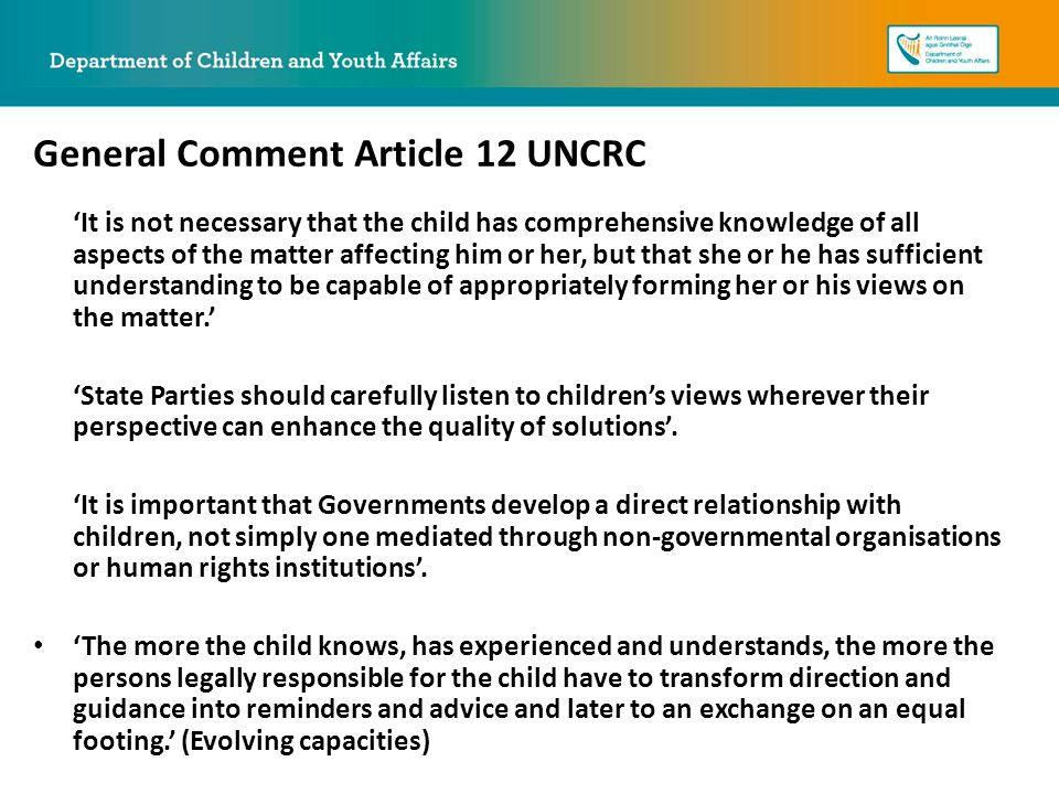 the general importance of the uncrc We are very proud in wales to place such importance on the rights of our (uncrc), and the optional a children's rights scheme is made under section 2 of the.