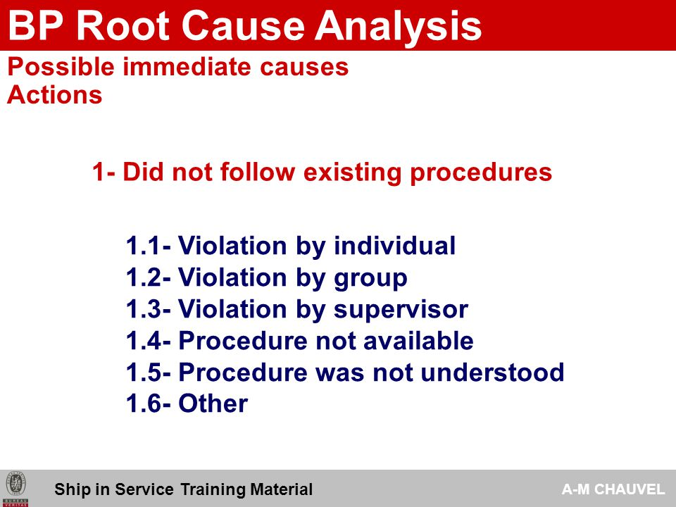 an analysis of with no immediate cause Cause is a major pitfall in root cause analysis (rca)  development of the root cause investigation best practices guide resulted from the efforts of the.