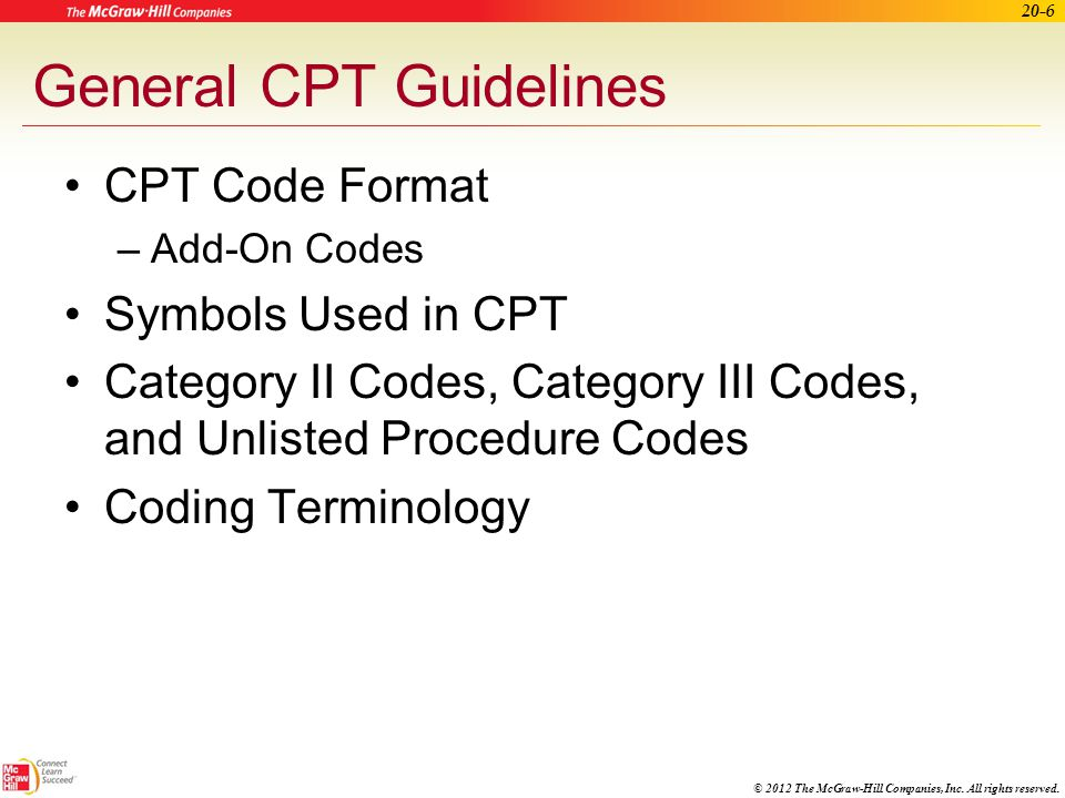 General CPT Guidelines
