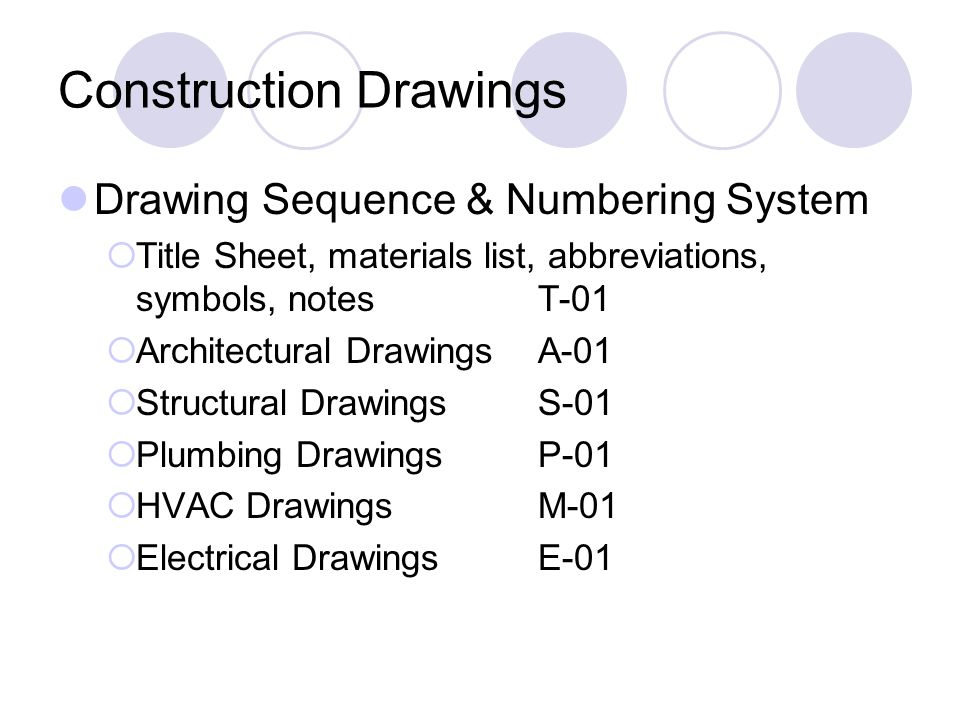 Construction documents ppt video online download for Architectural materials list
