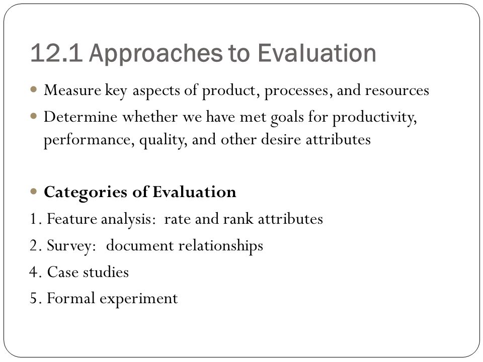 little mirrlees approach to project evaluation Accurate project estimation is one of the only greatly increase the project estimates, but it's approach also makes it an evaluation can be made on each bid.