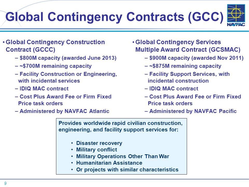 Navfac contingency response 23 july ppt video online for Cost plus building contract