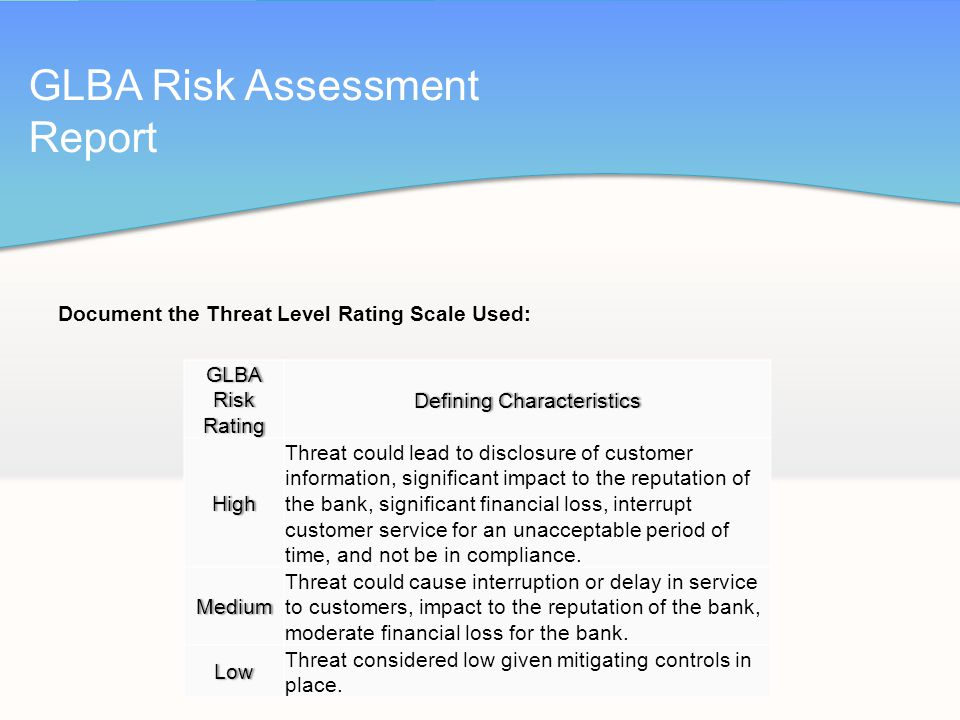 risk assessment report for resorts