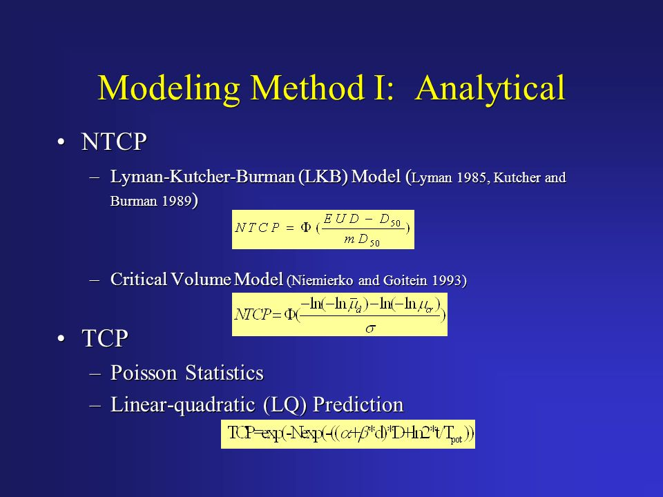 Modeling Method I: Analytical