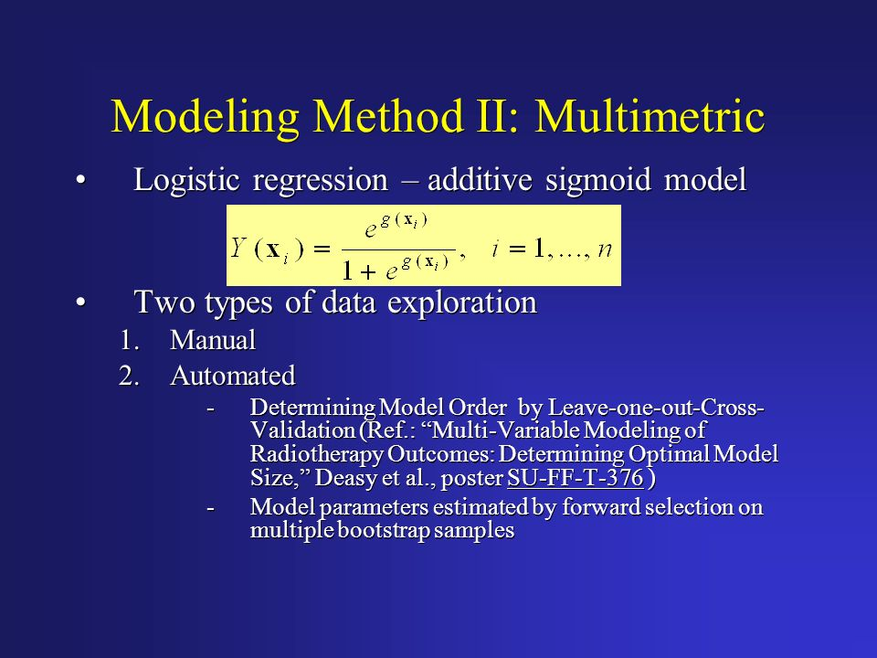 Modeling Method II: Multimetric
