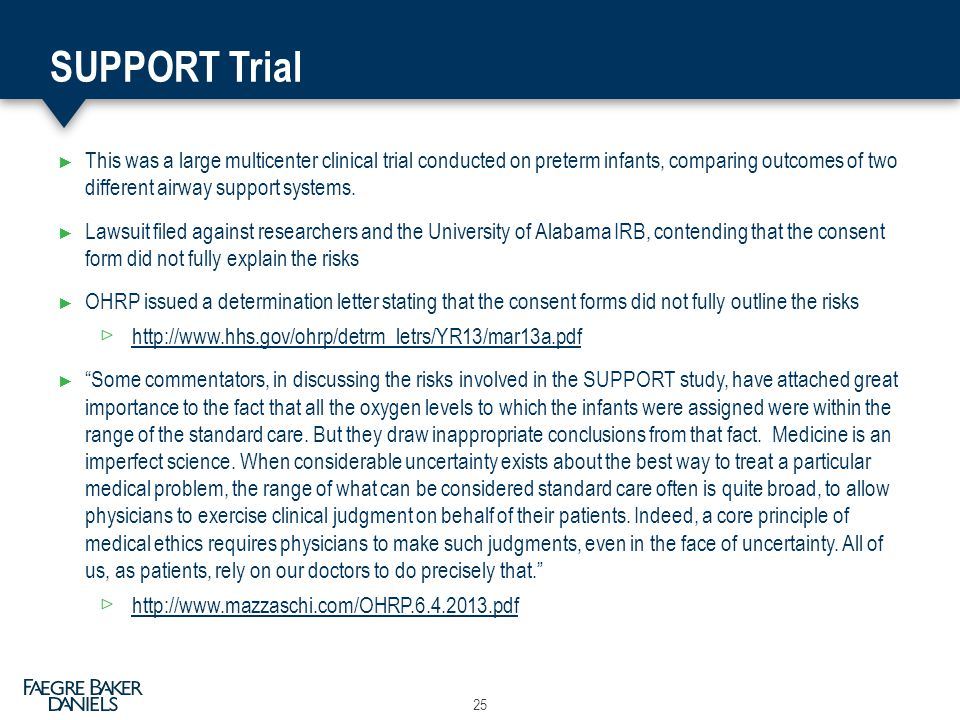 SUPPORT Trial This was a large multicenter clinical trial conducted on preterm infants, comparing outcomes of two different airway support systems.