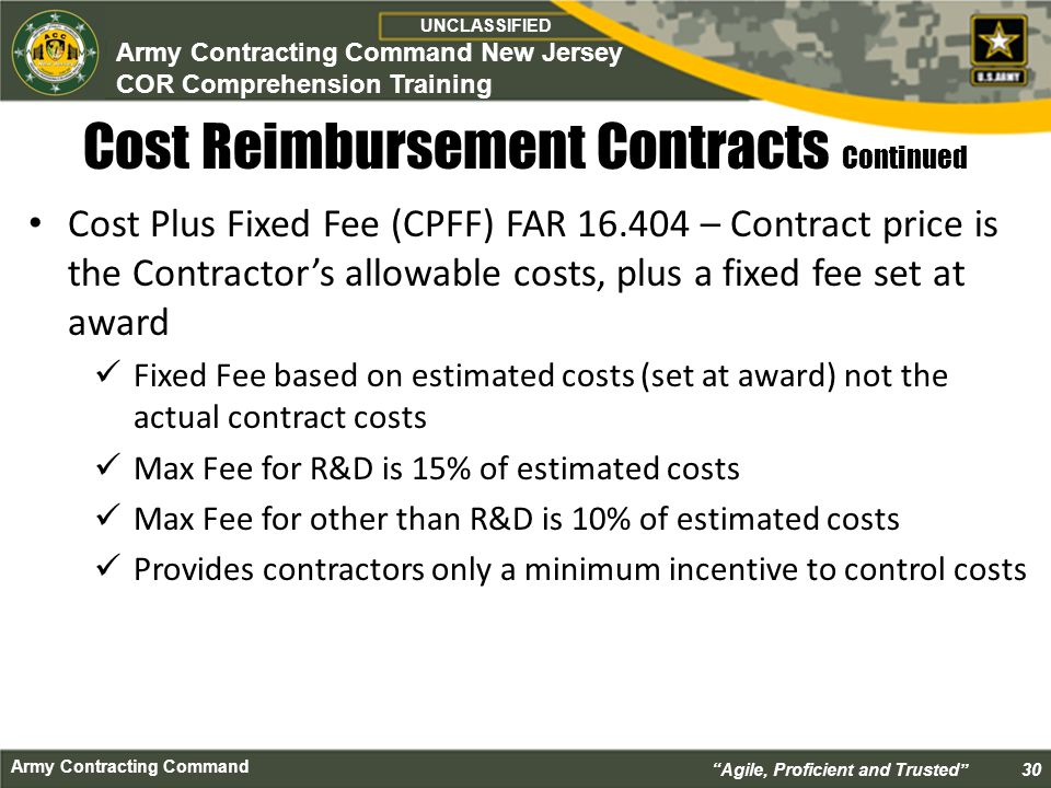 Cor class course introduction ppt download for Cost plus contract