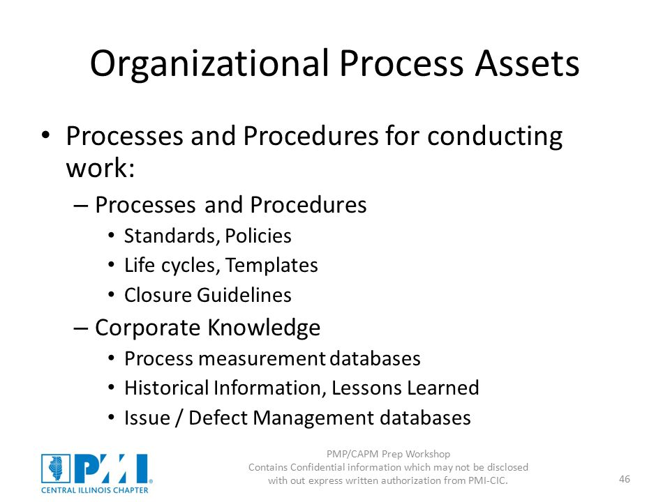 Pmpcapm prep workshop intro and scope ppt download organizational process assets pronofoot35fo Choice Image