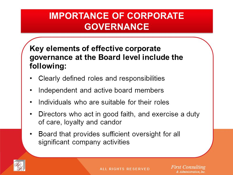 importance of corporate governance essays An important theme of corporate governance is the nature and corporate governance essay a number of corporate scandals which took place in.