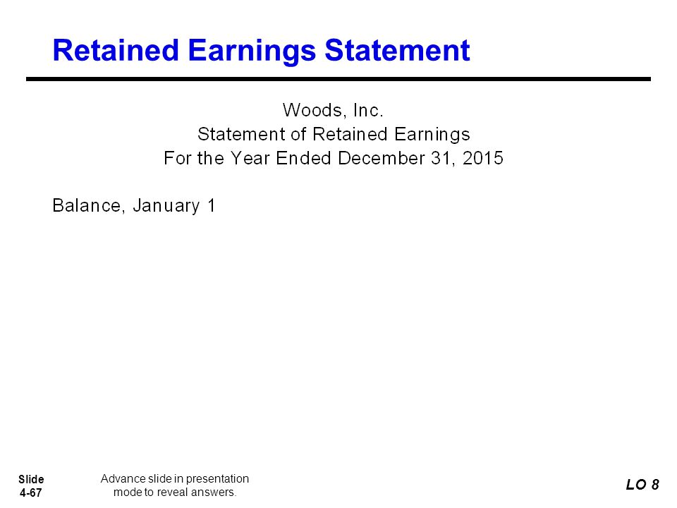 retained earnings report The statement of retained earnings is used to reconcile the changes in the retained earnings account from period to period several economic events can impact retained earnings financial report sample: statement of retained earnings.