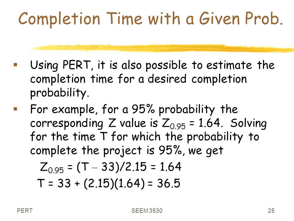 seem 3530 program evaluation and review technique