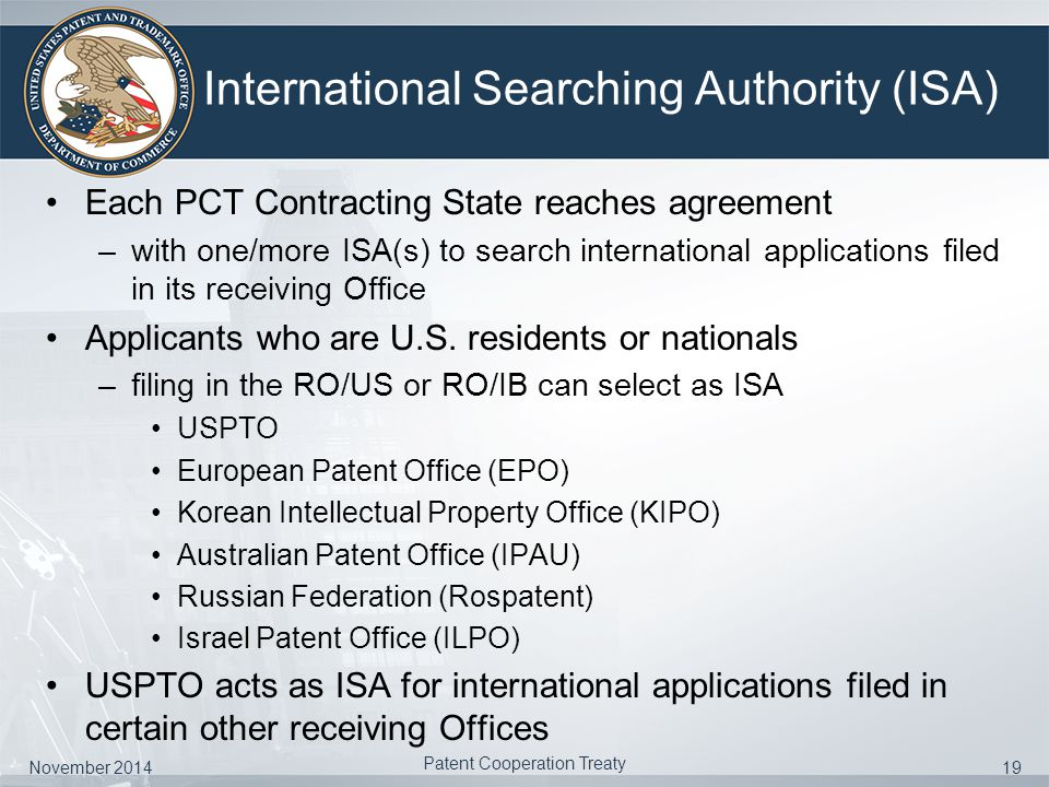 Introduction to the patent cooperation treaty ppt video online international searching authority isa platinumwayz