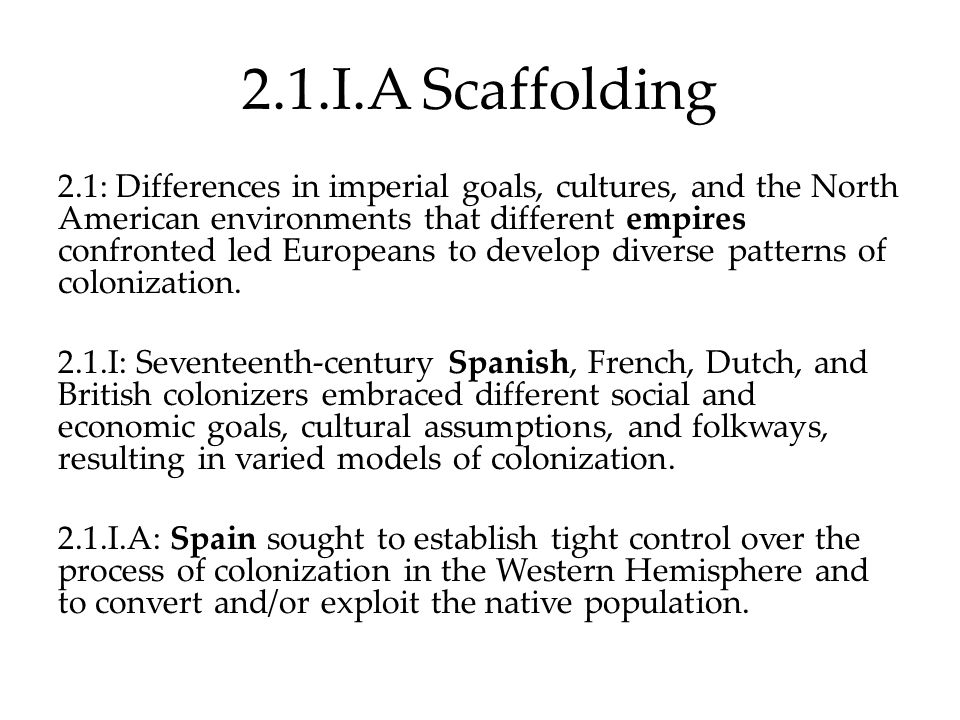 2.1.I.A Scaffolding