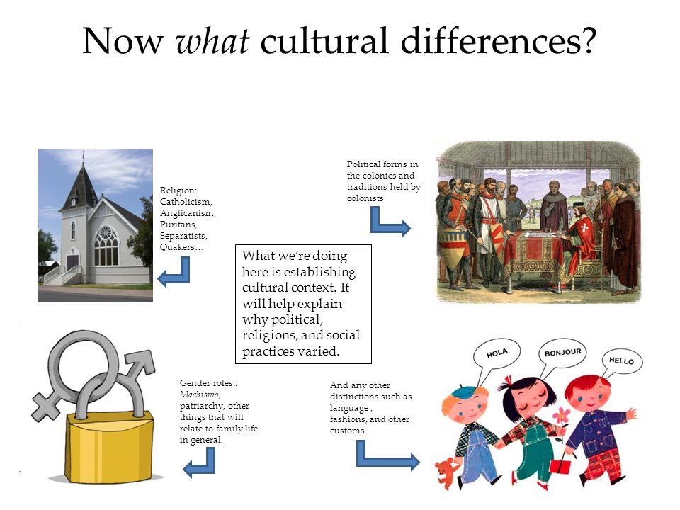 Now what cultural differences
