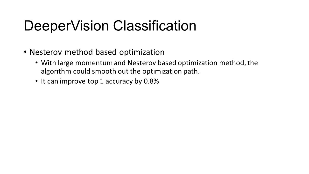 DeeperVision Classification