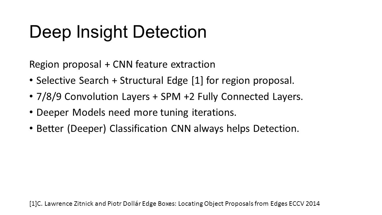 Deep Insight Detection