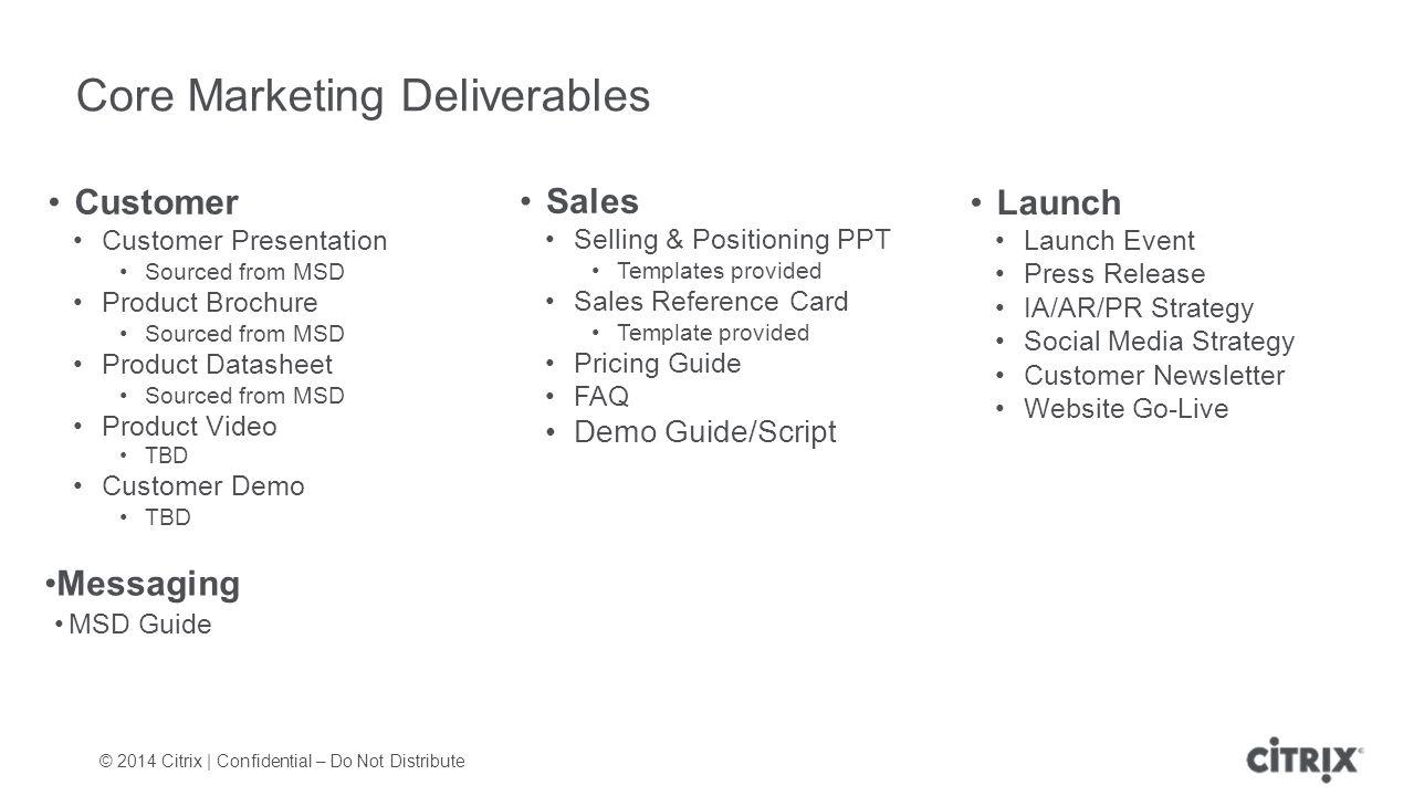 marketing deliverables