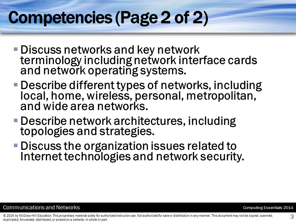 Competencies (Page 2 of 2)