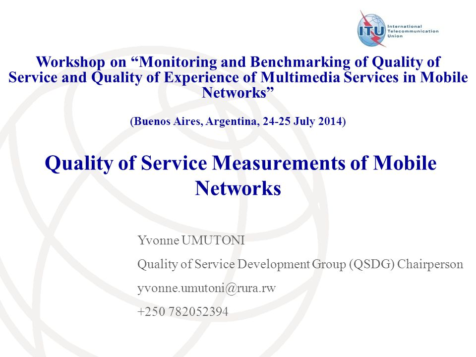 Mobile QOS – Mobile quality of service