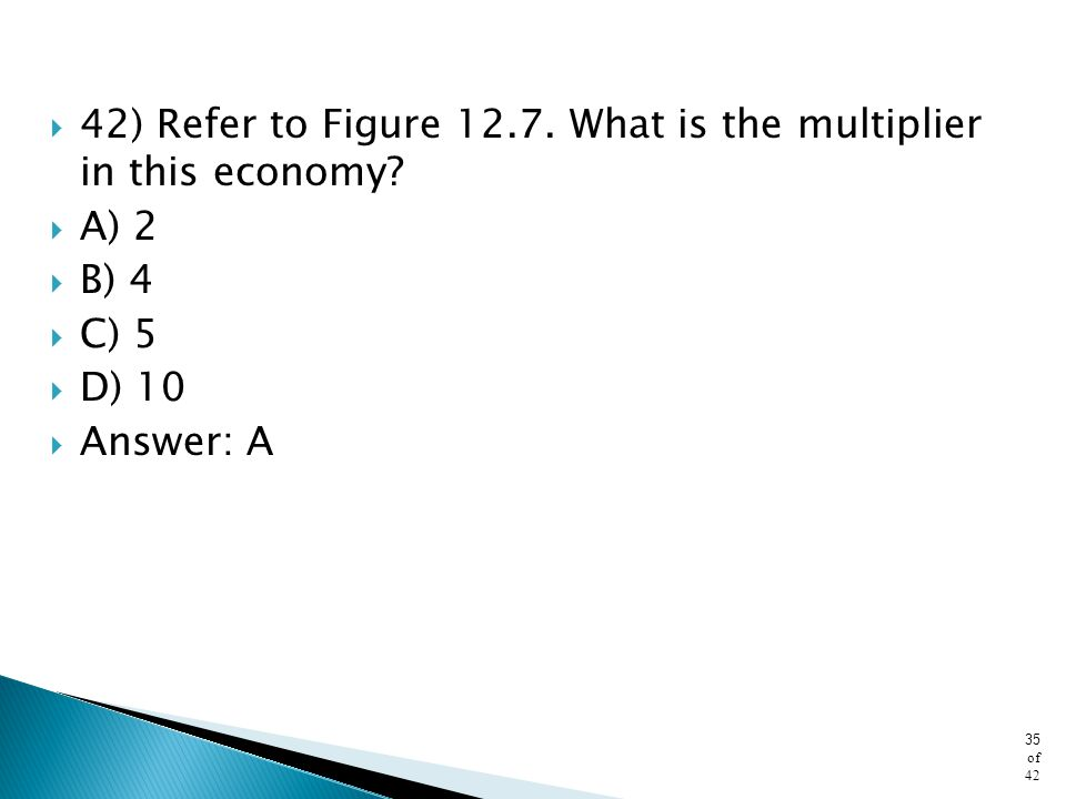 42) Refer to Figure 12.7. What is the multiplier in this economy