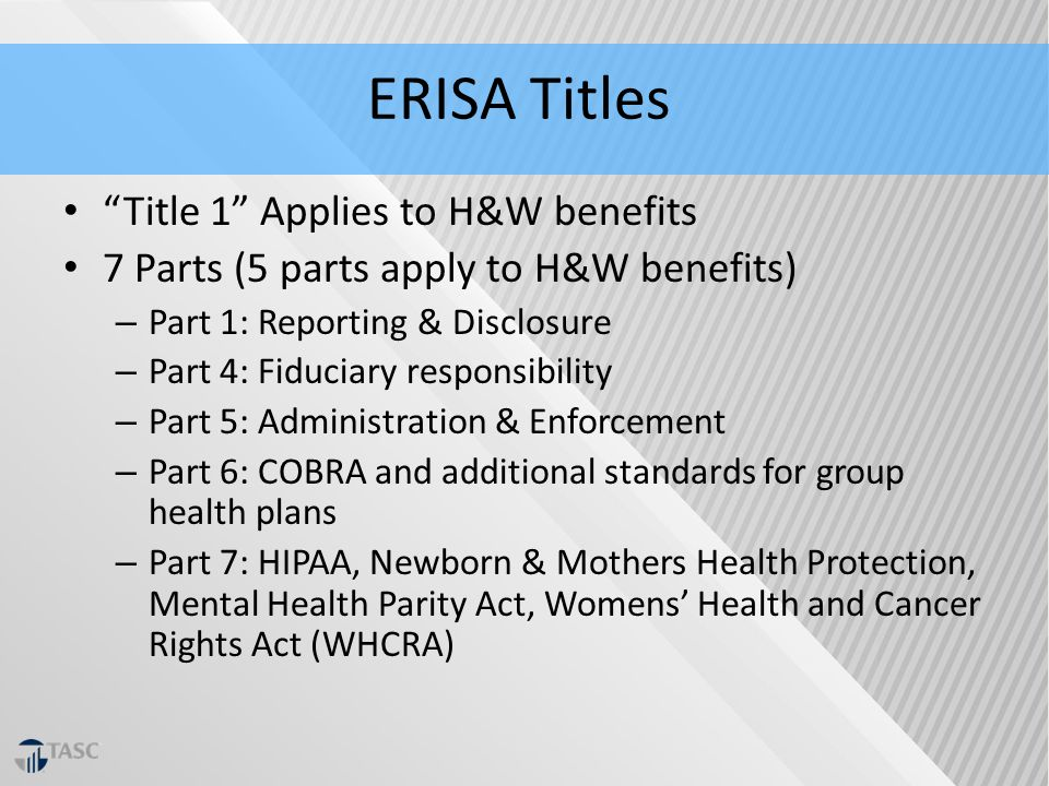 erisa cobra hipaa Compliance & administration benefaction is continuously staying abreast of the state and federal laws cobra erisa hipaa fmla.
