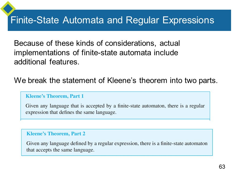 implementations of finite automata regular Implementation of lexical analysis  • specifying lexical structure using regular expressions • finite automata – deterministic finite automata (dfas.