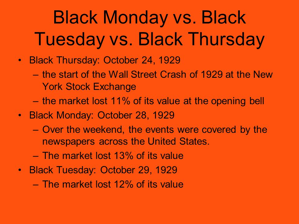 The consequences of the crash of the stock market in the united states