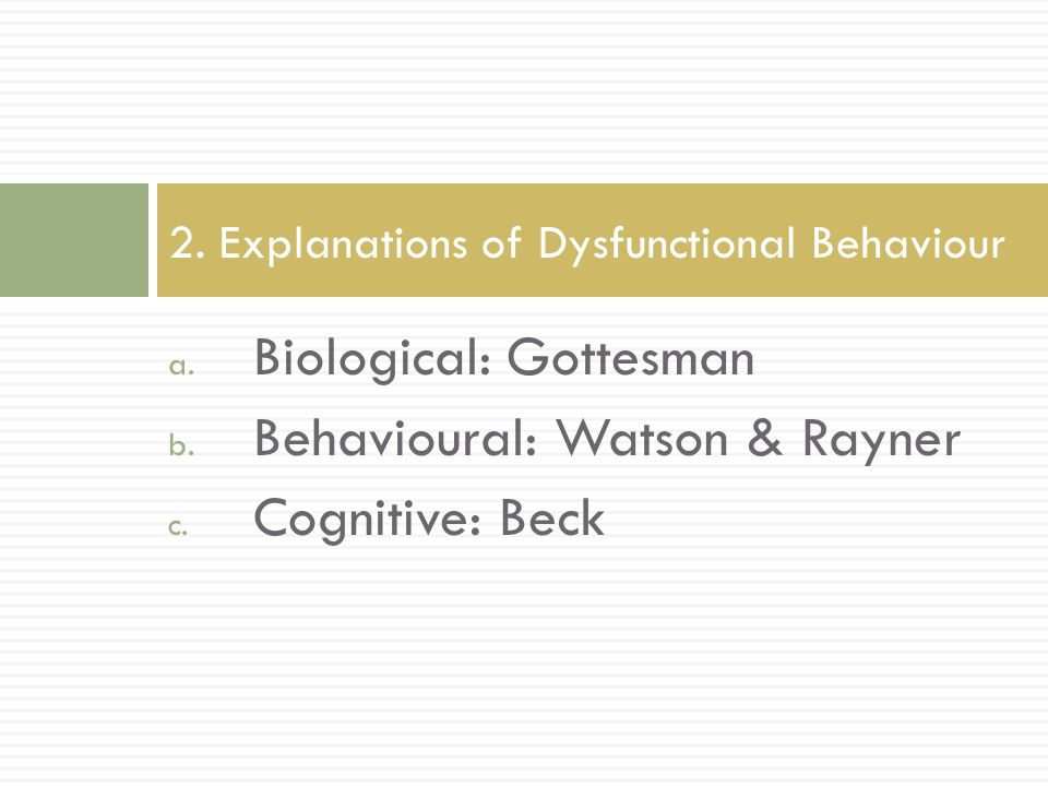 biological and cognitive psychology presentation outline Course number course title instructor course outline cogs 303 research methods in cognitive systems rensink, ronald pdf psyc 101 introduction to biological and cognitive psychology souza.