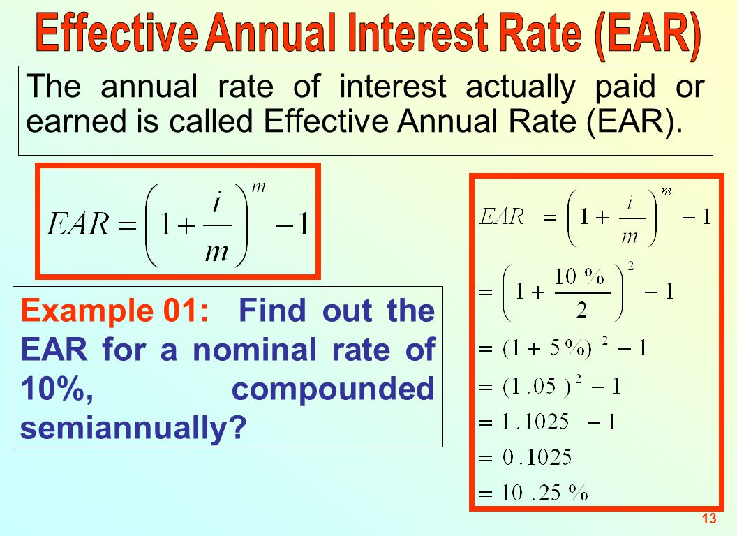 how to work out interst rates