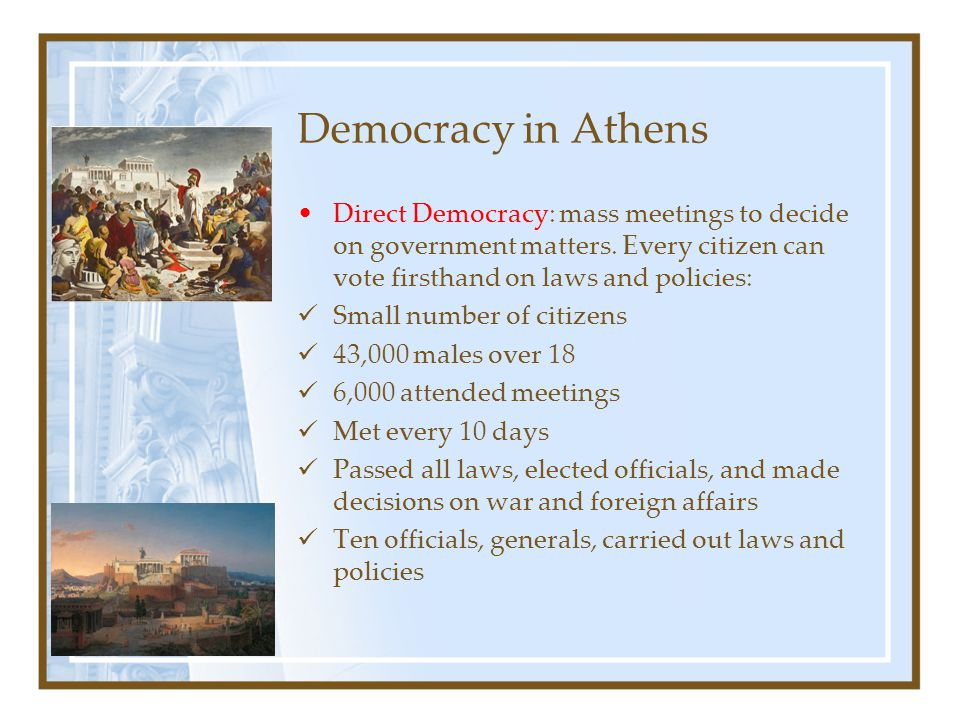 athenian democracy as discussed in the funeral speech of pericles He was a great supporter of the concept of democracy pericles guided athens almost through the entire peloponnesian war the things discussed in this essay will tell why pericles was a good attribute to the city-state of athens pericles' funeral oration.