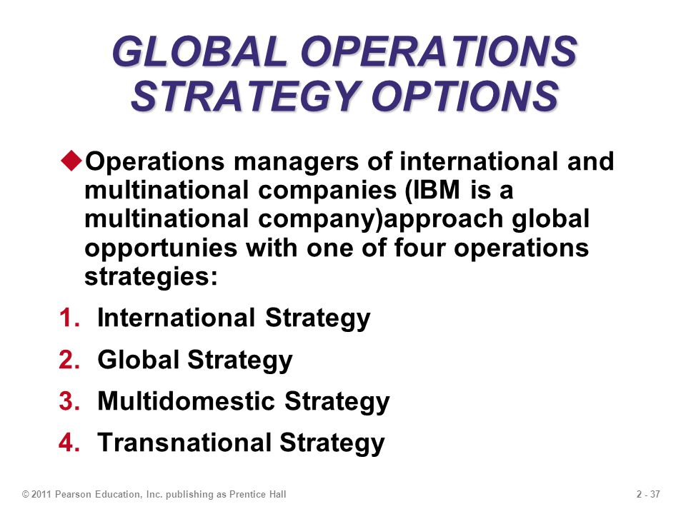 What are Multinational, International, Transnational Strategies of Globalisation?