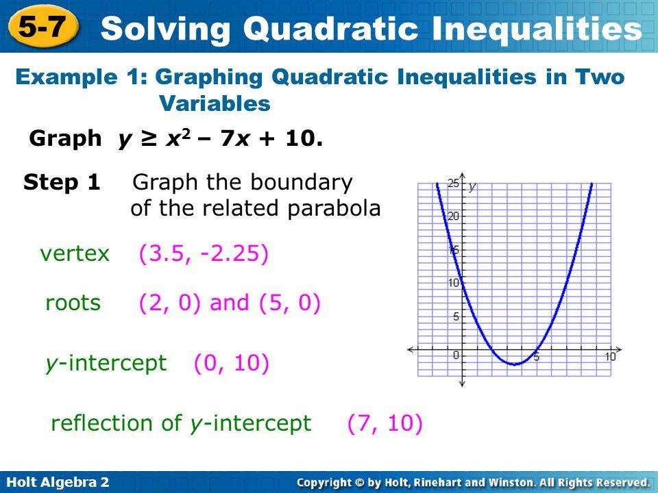 Graphing quadratic inequalities worksheet