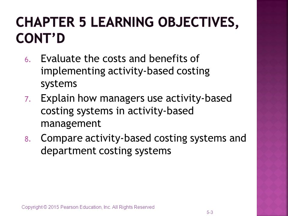 Chapter 5 activity based costing and customer