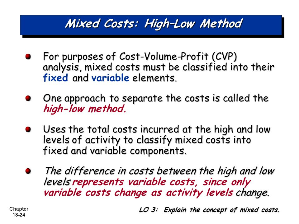 mixed costs A mixed cost is a cost that contains both variable and fixed costs (see my  previous two posts for more on these) utility bills traditionally were a.