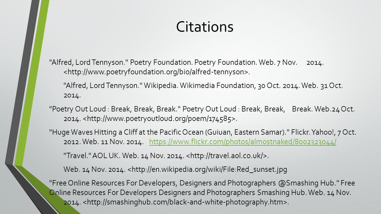 break break break by alfred lord tennyson ppt video online  16 citations alfred lord tennyson