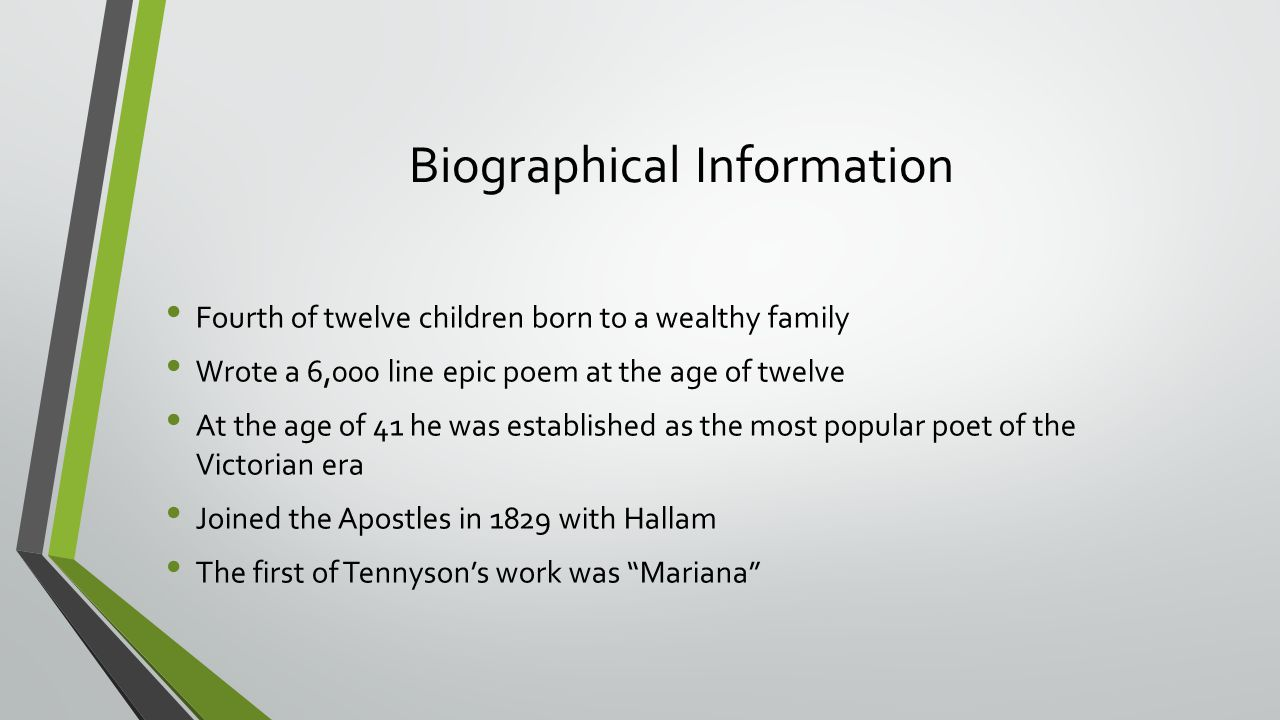 break break break by alfred lord tennyson ppt video online  biographical information