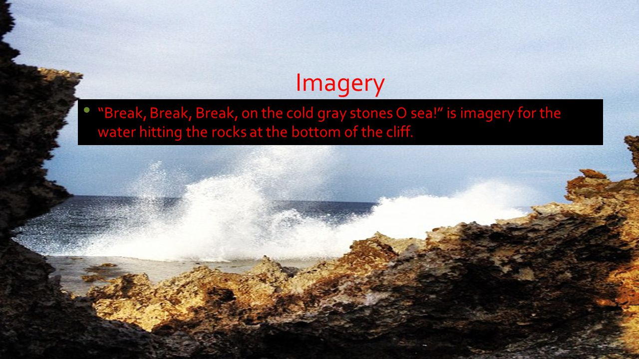 "break break break by alfred lord tennyson ppt video online  4 imagery ""break"