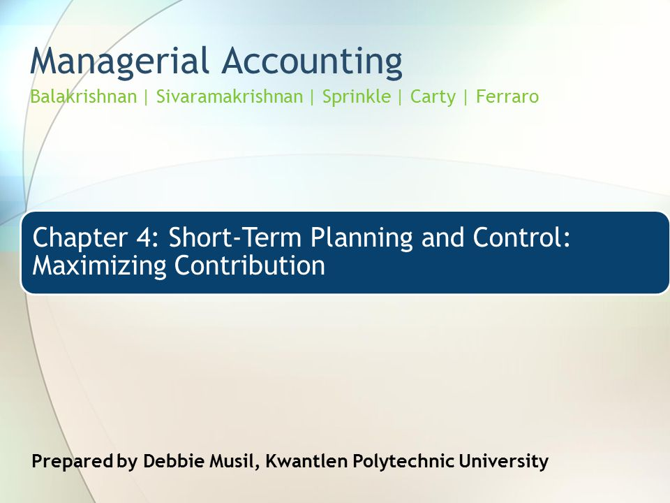 managerial accounting unit 1 Managerial accounting is just as important in a service company as it is in a manufacturing company or a 30,000/50,0003 = $180/unit: total hours (a.