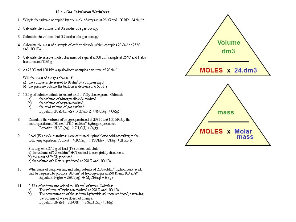 Molar volume Text Book Pages SPECIFICATIONS ppt download – Molar Volume Worksheet