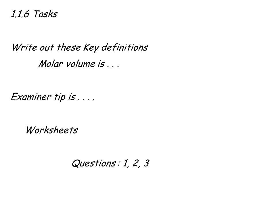 molar volume worksheet Termolak – The Mole and Volume Worksheet