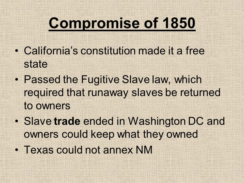 slave trade and commerce compromise definition in a relationship