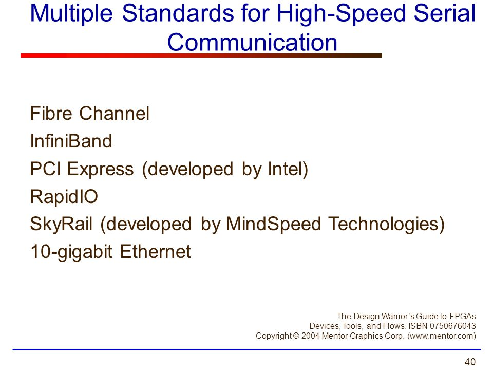 Multiple Standards for High-Speed Serial Communication