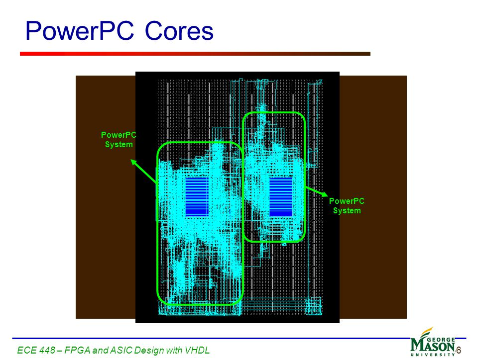 PowerPC Cores ECE 448 – FPGA and ASIC Design with VHDL PowerPC System