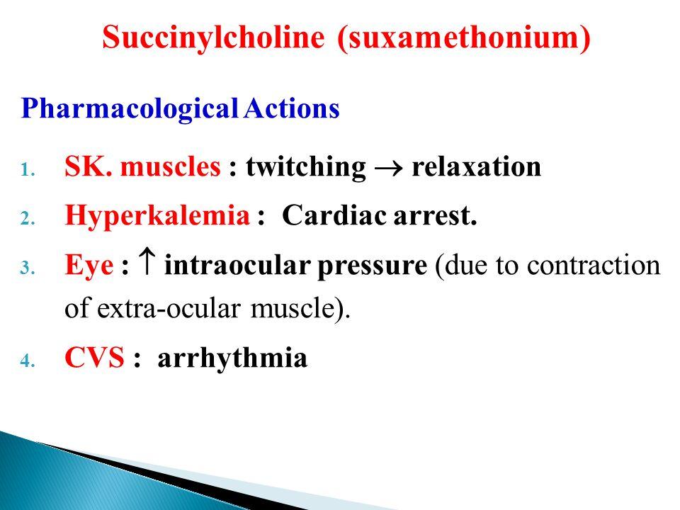 succinylcholine mechanism of action pdf