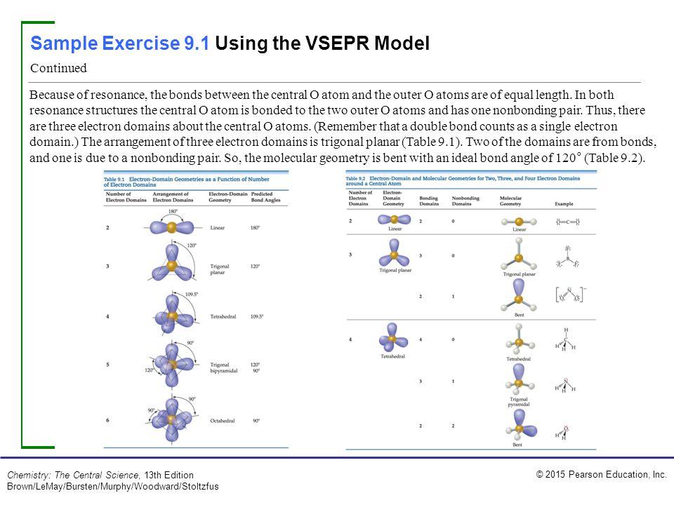 sample exercise 91 using the vsepr model ppt video
