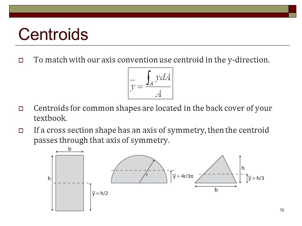 Centroids and Moments of Inertia