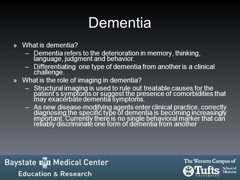 Dementia What is dementia
